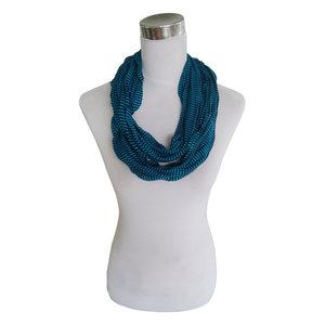 Jersey sjaal loop blauw gestreept 413828