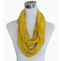Uni Jersey Schal gelb ocker 861001-9556