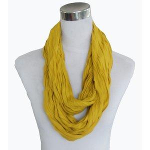 Sjaal Uni Jersey okergeel 861001-9556