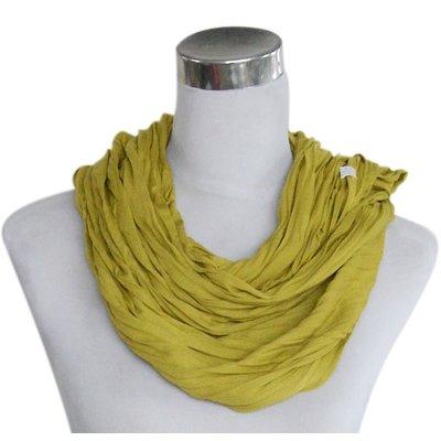 Sjaal Uni Jersey okergeel 861001-9230