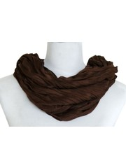 SCARF UNI JERSEY dark brown 861001-3102