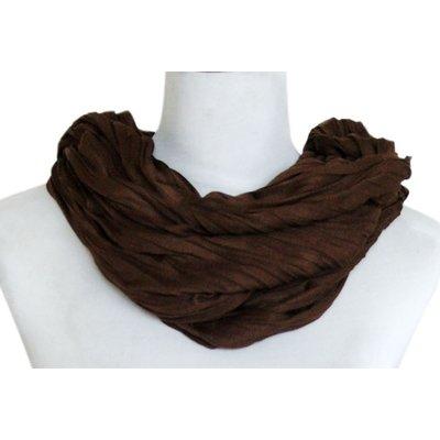 SCARF UNI JERSEY dark brown 861001-3102