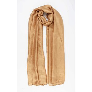 "Scarf ""Flax"" brown"