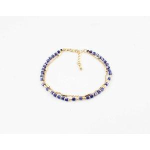 "Bracelet ""Qasuk"" blue / gold"