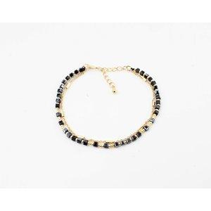 """Bracelet """"Qasuk"""" black / gold"""
