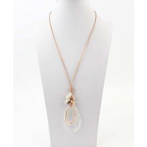 """Necklace """"Barrow"""" brown / silver"""