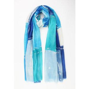"""Sjaal """"Ekalaka"""" blauw"""