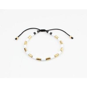 "Bracelet ""Almota"" white / gold"
