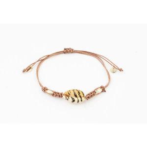 "Bracelet ""Towal"" pink / gold"