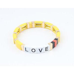 "Armband ""Nesika"" geel/goud"