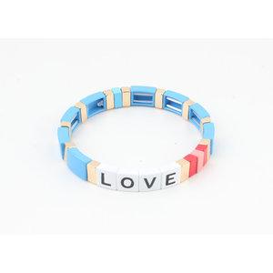 "Bracelet ""Nesika"" blue / gold"
