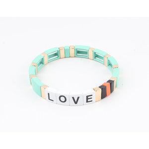 """Armband """"Nesika"""" turquoise/goud"""