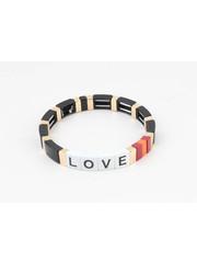 "Bracelet ""Nesika"" black / gold"