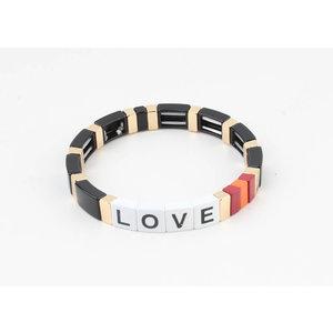 """Armband """"Nesika"""" zwart/goud"""