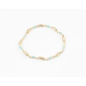 """Bracelet """"Toutle"""" blue / gold"""