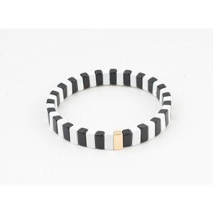 """Armband """"Verona"""" schwarz / weiß"""
