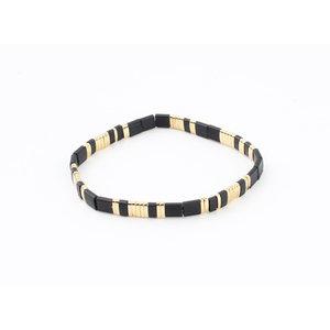 """Bracelet """"Havana"""" black / gold"""