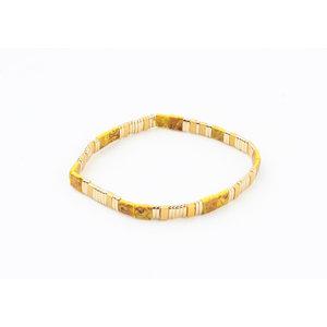 """Bracelet """"Havana"""" ocher / gold"""