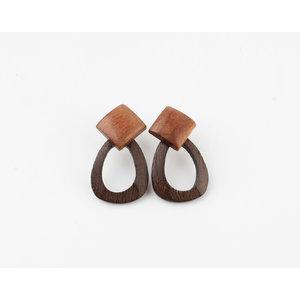 "Earring ""Petrolia"" brown"