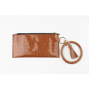"Clutch ""Yette"" brown"