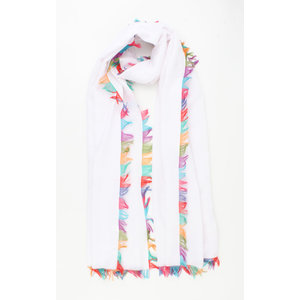 "Scarf ""Meredith"" white"