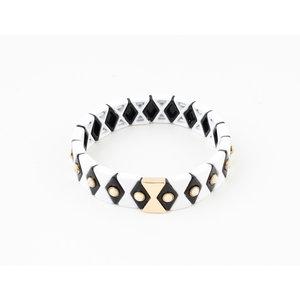 """Armband """"Yale"""" schwarz / weiß"""