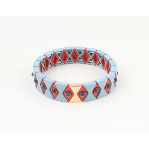 """Armband """"Yale"""" blauw"""