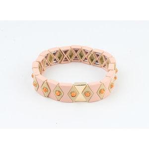 """Armband """"Yale"""" roze"""