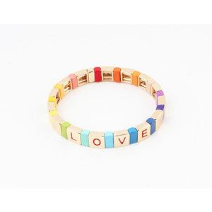 """Armband """"Ethel"""" gold / multi"""