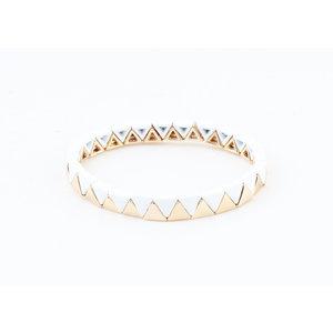 "Armband ""Zanita"" weiß / gold"