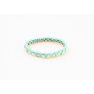 "Armband ""Zanita"" turquoise/goud"