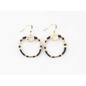 "Earring ""Dundee"" black / gold"