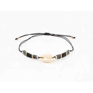"""Armband """"Yaquina"""" zwart"""