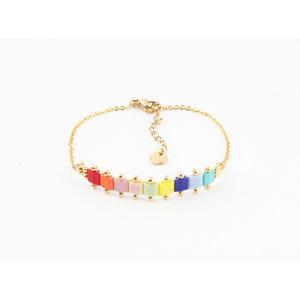 """Bracelet """"Glenada"""" multi / gold"""