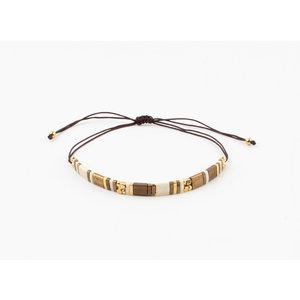 "Armband ""Leona"" bruin"
