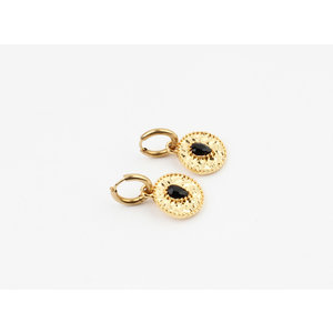 "Earring ""Galice"" black / gold"