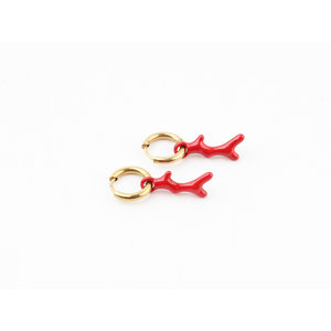 """Earring """"Wimer"""" red / gold"""