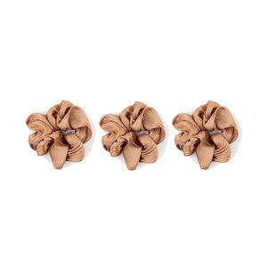 "Scrunchie ""Arcata"" brown, per 3pcs."