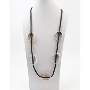 """Necklace """"Willamina"""" silver / gold"""