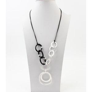 "Necklace ""Olex"" silver / black"