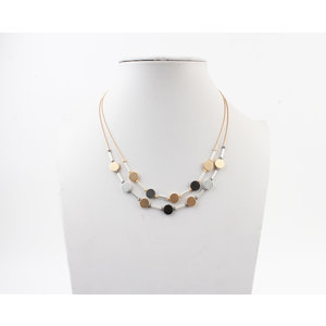 "Necklace ""Minam"" silver / gold"