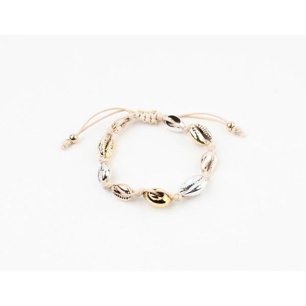 "Armband ""Ennis"" zilver/goud"