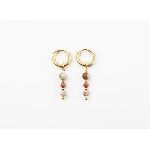 "Earring ""Chaska"" pink / gold"