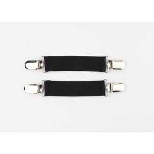 "Sleeve holders ""Castine"" black, per 2pcs."