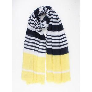 "Sjaal ""Ravenna"" zwart/geel"