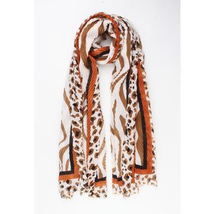 """Scarf """"Leith"""" brown"""