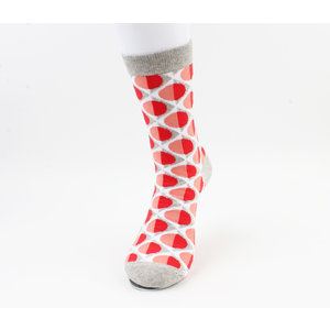 "Men's socks ""Caledonia"" gray / red"