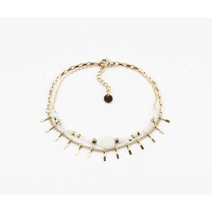 """Bracelet """"Juntura"""" white / gold"""