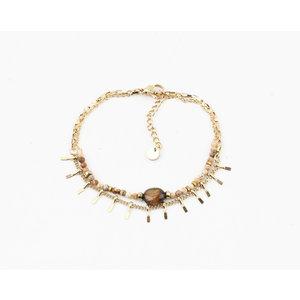 "Bracelet ""Juntura"" brown / gold"