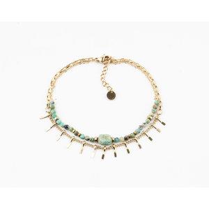 "Armband ""Juntura"" turquoise/goud"